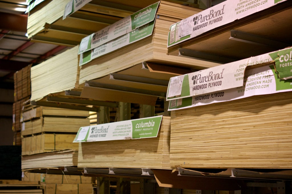 Frank Miller Lumber Retail Store plywood stock