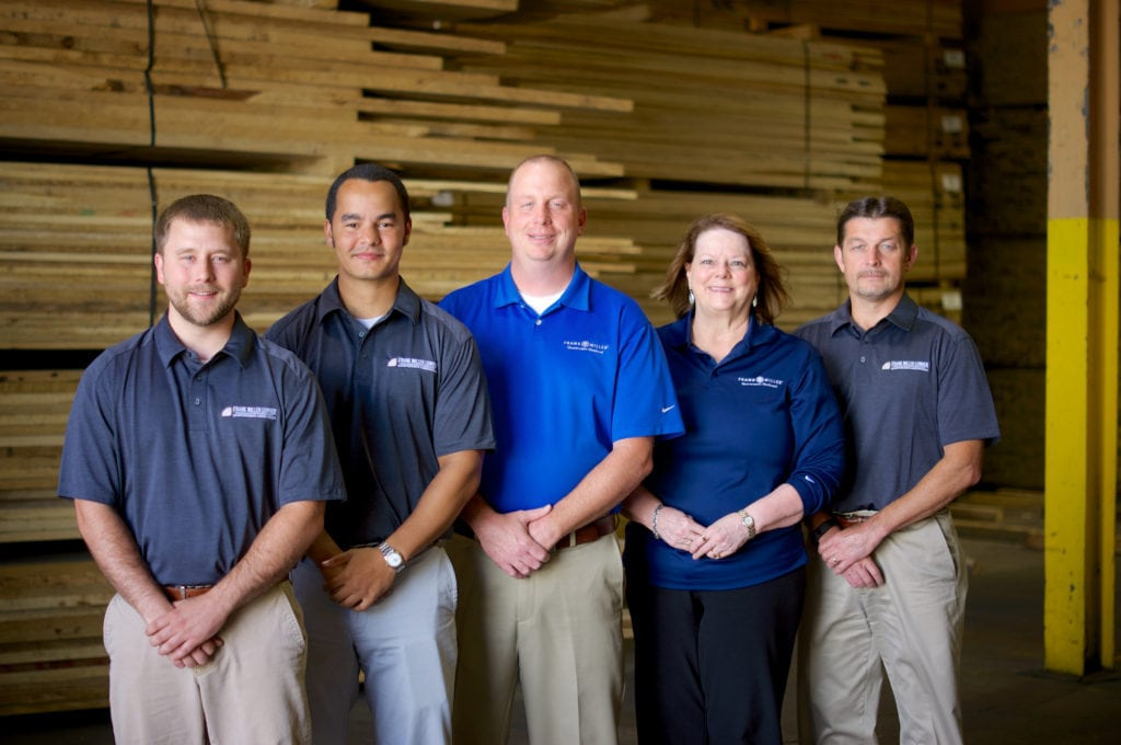 Frank Miller Lumber Sales team
