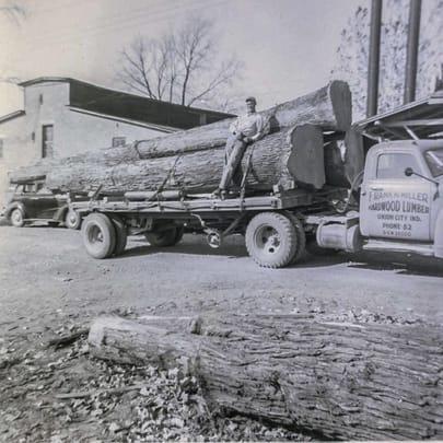 old log truck